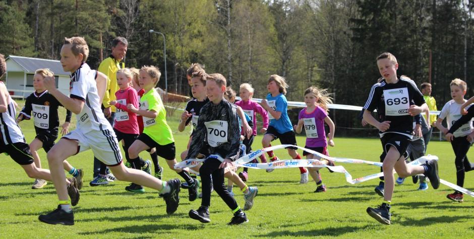 2 km för tjejer och killar gick fort!